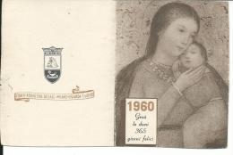 CAL115 - CALENDARIETTO 1960 - CASA DI REDENZIONE SOCIALE - Calendriers