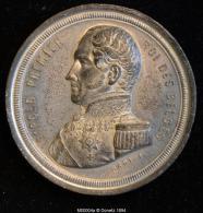 M00004 Fête Nationale De 1856, Inauguration Du Règne De Léopold Et Léopold I Au Revers (44gr.) - Monarquía / Nobleza