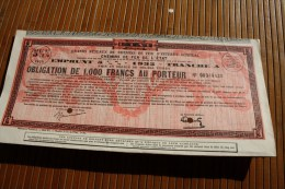 SNCF Compagnie Chemin De Fer De L'État Emprunt 5 % Obligation 1000 Fr. 1935 Tran A Titre Action Perforées Perforations - Chemin De Fer & Tramway