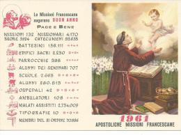 CAL119 - CALENDARIETTO 1961 - MISSIONI FRANCESCANE - Calendriers