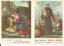 CAL122 - CALENDARIETTO 1961 - MENSA S. ANTONIO - Calendari