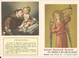 CAL125- CALENDARIETTO 1962 - ISTITUTI PER L´ASSISTENZA AI FIGLI E FIGLIE DEI CARCERATI - Calendriers