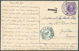 25 Centimes Houyoux Obl. Sc VILVORDE - VILVOORDE S/C.P. Du 2-XI-196 Vers Gerpinnes Et Taxée à 10 Centimes.  Superbes Fra - Postage Due