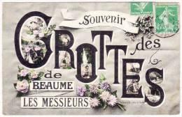 BEAUME LES MESSIEURS - Fantaisie - Souvenir Des Grottes   (61775) - Baume-les-Messieurs