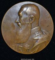 M00079 Allégorie De La Belgique (1930) Et Léopold II Au Revers (130 Gr.) - Royal / Of Nobility