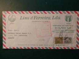 34/481 LETTRE  PORTUGAL - Pingouins & Manchots