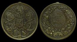 M00088 Exposition De La Société Gantoise D´aviculture En 1888 Et Armes De La Belgique Encadrées De Têtes De Coqs (48 G.) - België