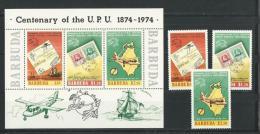 Barbuda:  172/ 174 + BF 10 **  UPU - Antigua Et Barbuda (1981-...)
