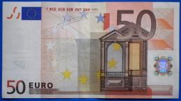 ITALY  50 EURO S 2002 J075 G2 XF - TRICHET - EURO