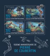 CENTRAL AFRICA 2013 - Pierre De Coubertin. Official Issue - Gymnastiek