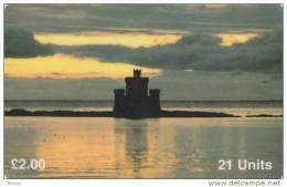 Isle Of Man, MAN 087, Tower Refuge Douglas, 2 Scans. - Isla De Man