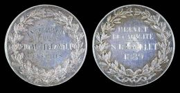 AG00098 Brevet De Capacité De L´institut De Mlles Chenu Et Frezolla, 1889 (Ag 16.61 Gr.) - France