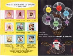 Carnet Publicitaire PATHE MARCONI Disques, état Impeccable - France