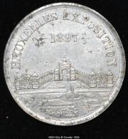 M00142 Exposition De Bruxelles De 1897  Et Un Calendrier Au Revers (6 Gr.) - België