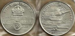 HUTT RIVER PROVINCE $5 CROWN FRONT DESERT STORM ROCKET  BACK 1YEAR TYPE 1991 UNC KM.X34? READ DESCRIPTION CAREFULLY!! - Monnaies