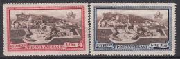 VATICAANSTAD - Michel - 1933 - Nr 37/38 - MH* - Cote 2.00€ - Express