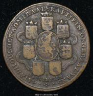 M00151 Les écus Des 7 Provinces Et Guillaume III D´Orange (?) Et Marie (?)  En Profil Au Revers (16 Gr.) - Paesi Bassi