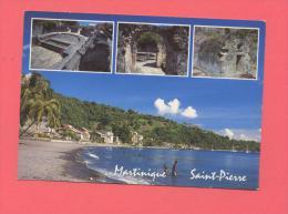 DOM-TOM : LA MARTINIQUE - Saint Pierre - Multivues , Cachot De Cyparis , Ruines Du Théatre - Martinique