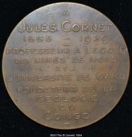 M00176 A Jules Cornet, Professeur à Mons Et Gand (1929) Et Son Portrait Au Revers (42 Gr.) - België