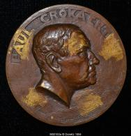 M00183 Paul Crokaert, Avocat, Batonnier, Ministre (1932) Et Son Profil Au Revers (140 Gr.) - Belgium