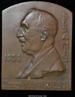 M00185 Jules Vanhulst , Congo (1932) Et Son Profil Au Revers (112 Gr.) - Belgium