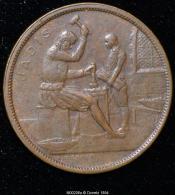 """M00206 Monnaie De Bruxelles (1910) Et Un Artisan De  """"jadis"""" Au Revers (8 Gr.) - Belgium"""