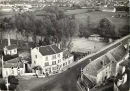 Cher -gd Format -ref K452- Vue Aerienne -en Avion Au Dessus De Orval Saint Amand -orval St Amand -l Hotel Du Pont Du Che - Autres Communes