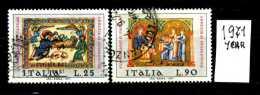 -ITALIA - REPUBBLICA - Serie Completa - Year 1971 - S.NATALE - Viaggiato - Traveled - Reiste. - 1971-80: Usati