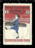 Original German Poster Stamp Cinderella Reklamemarke - Excelsior AG Hannover  Rubber Gum Kautschuk Gummi - Cinderellas