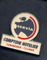 Pin´s Carte De France Comptoit Hotelier Servia Gerardmer Colmar - Food