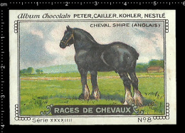 Old Original Swiss Poster Stamp (advertising Cinderella, Label) Nestle - Animal Horse Cheval Pferd Shire  Horse - Horses