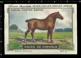 Old Original Swiss Poster Stamp (advertising Cinderella, Label) Nestle - Animal Horse Cheval Pferd Breton Horse - Horses