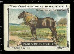Old Original Swiss Poster Stamp (advertising Cinderella, Label) Nestle - Animal Horse Cheval Pferd Russian Farmer Horse - Horses