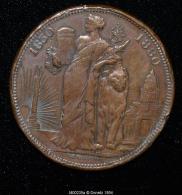M00235 Congrès, Allégorie Belgique Et Palais De Justice (1880) Et Léopold I Et II Au Revers (34 Gr.) - Royal / Of Nobility