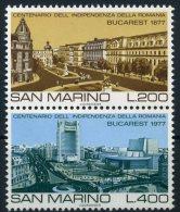 1977 San Marino, Vedute Di Bucarest, Serie Completa Nuova (**) AL FACCIALE - Nuovi