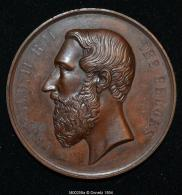 M00258 Société De Philantropie à ... Et Léopold II Au Revers (50 Gr.) - Royal / Of Nobility