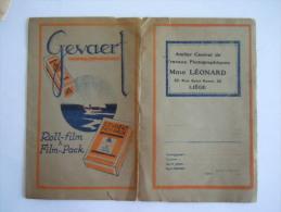 Pochette Photo Gevaert Roll-film & Film-Pack Léonard Liège - Matériel & Accessoires
