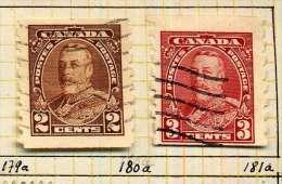 Canada Y&T 180a Et 181a ° - Gebraucht