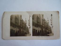 Foto Photo Cairo Strasse Bab-el-Charich Form 18 X 9 Cm Steglitz Berlin 1904 - Stereoscoopen