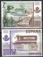 España 1981 Edifil 2637/8 Sellos ** Museo Postal Telegrafista Scott2273/4 Michel2526/7 Spain Stamps Espagne Timbre - 1931-Aujourd'hui: II. République - ....Juan Carlos I
