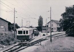 Chemin De Fer Bière-Apples-Morges, Train à Apples Gare, Photo 1963  BVA, BAM 150.9 - FR Fribourg
