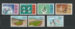 Barbuda: 545/ 548 + 696/ 698 ** - Antigua Et Barbuda (1981-...)