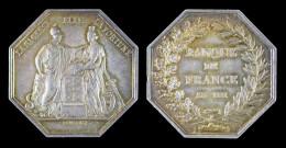 """AG00056 Banque De France, An VIII (1800) Et """"la Sagesse Fixe La Fortune"""" Avec Leurs Allégories Respectives, Argent, 26 G - France"""