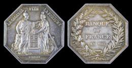 """AG00061 Banque De France, An VIII (1800) Et """"la Sagesse Fixe La Fortune"""" Avec Leurs Allégories Respectives, Argent, 24 G - France"""