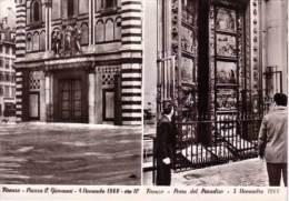 VENDO N.1 CARTOLINA DI FIRENZE CITTA ALLUVIONE IN PIAZZA SAN GIOVANNI E PORTA PARADISO DEL 5/11/1966 ORE 10 - Firenze