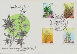 762/765 - FDC Flore-Plantes Médicinales(Callitris Articulata-Artemisia Herba-alba-Ricinus Communis-Thymus Fontanesii) - Argelia (1962-...)
