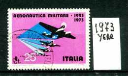 -ITALIA - REPUBBLICA - Singolo - Year 1973 - 50° Aeronautica Militare - Viaggiato - Traveled - Reiste. - 1971-80: Usati