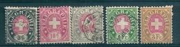 Switzerland Telegraphie Used 10c. 3 Fr. MM* - Telegrafo