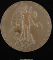 M00311 Chambre De Commerce De Bruxelles Avec Saint Michel (1957) Et Robert Dubois Gravé Au Revers, Bronze (46 G.) - Belgium