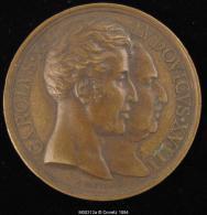 M00312 En Mémoire De La Statue De Louis XIII (1829) Et Louis XVIII Et Charles X De Profil Au Revers, Bronze (58 G.) - Royal / Of Nobility